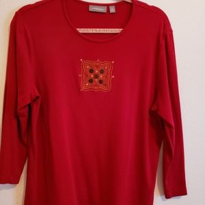 Croft and Barrow red blouse, XL